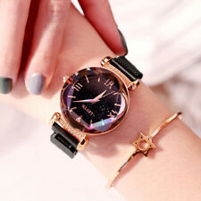 Women Watches Rose Gold Starry Sky Magnet Quartz Wrist Watches Montre Femme