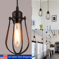 Vintage Light Retr Industrial Irn Shade Cage Ceiling Pendant Lamps Edisn