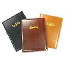 A - Z Index Leather Cover Executive Padded Address Book Assorted Colours & Size
