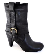 GUCINARI LADIES BLACK SOFT LEATHER MID CALF BOOTS WOMENS SIZE UK 6 - EUR 39