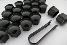 22 Piece - Premium Tesla Lug Nut Caps Covers w/ Tool in Gloss Black for S 3 X Y