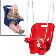 Kleinkinder-Schaukel mit Rückenlehne und Gurt - rot - Babyschaukel Schaukelsitz