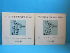 THE HISTORY OF MUSIC IN SOUND VOL 1 VINYL ANCIENT & ORIENTAL HLP 1 HLP 2 RARE!