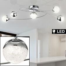 Luxus Chrom Decken Leuchte Lampe Rondell Wohn Zimmer Kugel Kristalle Beleuchtung
