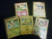 Pokemon card lot of 5 Legendary holos Celebi Suicune Dialga Zapdos G Shaymin