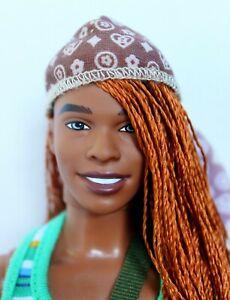 Ken Doll African American Rerooted Redressed Lovely OOAK 3