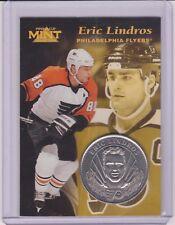 RARE 1996-97 PINNACLE MINT ERIC LINDROS SILVER / NICKEL COIN & CARD #3 ~ QTY