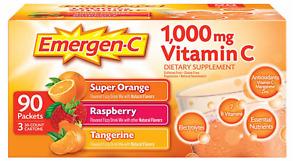 Emergen-C Vitamin C 1000mg Variety Mix Supplement - 90 Count, EXP: 05/2022 SALE
