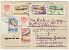 1991 Cover. Latvia to Germany. Russian Airships / Zeppelins Issue.