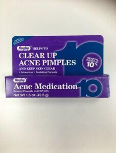 Rugby Acne Medication Gel Benzoyl Peroxide 10% 1.5 oz (Exp 12/22)