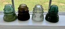 New Listing4 Antique Glass Insulators Hemingray Whitall Tatum Armstrong Vintage Free Ship