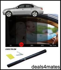CAR VAN BUS CAMPER WINDOW TINT FILM TINTING DARK BLACK  SMOKE 15% 76cm x 6M NEW