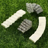 Miniature Landscape Ornament Bridge Stair Step Statues Fairy Garden Decor DIY