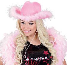 Rosa Party Cappello da cowboy NUOVO - Carnevale Cappello berretto copricapo