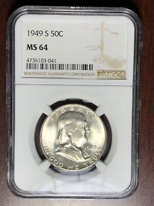 1949 S NGC MS-64 Franklin Half Dollar  #W6731