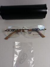 118ab20557b Bvlgari Eyeglasses 2184-b 376 52-17 140 Gold   Black Rimless Frame Crystals