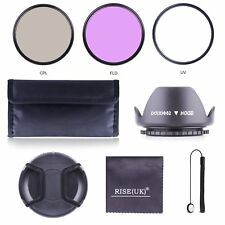 52MM UV CPL FLD Filter Kit + Accessories Bundle for Nikon Pentax Lens