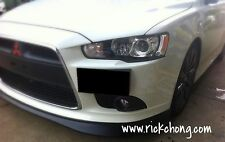 2010 TO 2015 MITSUBISHI LANCER GT RALLIART FRONT BUMPER ADD ON V-LIP PU MATERIAL
