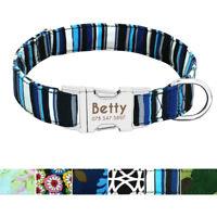 Personalised Nylon Large Pet Collars Soft Custom Dog Collars Nameplate Small