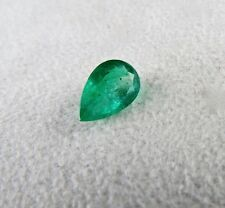 12 MM 2.87 CTS ZAMBIAN EMERALD PEAR SHAPE GEMSTONE FOR RING & PENDANT