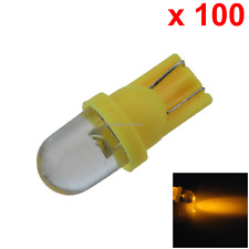 100x Yellow Car T10 W5W Roof Bulb License Plate Lamp PCB 1 In-line LED A082