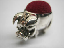 Novelty Edwardian Style Birmingham Hallmarked Sterling Pig Silver Pin Cushion