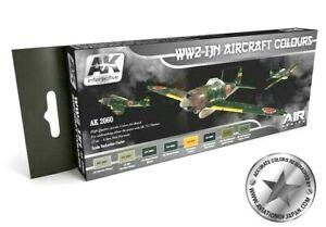 AK Interactive WWII Ijn Aircraft Colours Peinture Acrylique Set Pour Modèles