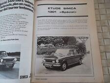 REVUE TECHNIQUE SIMCA 1301 SPECIAL DEPUIS 1969
