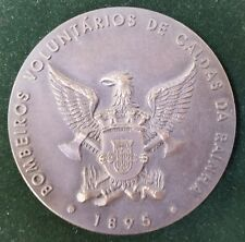 PORTUGAL PORTUGUESE FIRE VOLUNTEER FIREMAN CALDAS da RAINHA MEDAL PLAQUE 1981