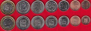 Venezuela set of 7 coins: 1 centimo - 1000 bolivar 2007-2012 UNC
