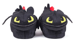 Toothless Realistic Looking Happy Feet Slippers Dreamworks