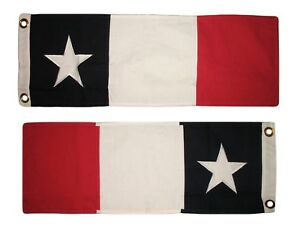 """10x33 Embroidered Sewn Texas Dodson's Cotton Flag 10""""x33"""" Banner Historic Size"""