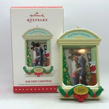 New Listing2015 Hallmark Keepsake Our First Christmas Photo Holder Tree Ornament