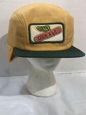 RARE Vintage Dekalb Corn Ear Wings flaps Yellow Farmer Winter Hat NOS Snapback