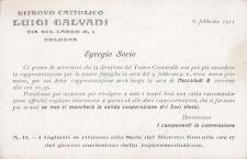 A6303) BOLOGNA, RITROVO CATTOLICO LUIGI GALVANI, TEATRO CONTAVALLI.