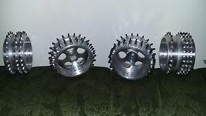 Fg marder / carson  n. 4 cerchi in alluminio derivati dal pieno , con chiodi