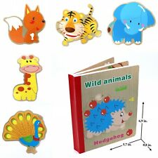 Educational Book Toy for Toddlers Baby Kids Children . Wild Animals book