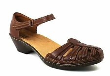 Clarks Bendables WENDY SUITE Leather Fisherman Sandals BROWN Size 7 M NWOB