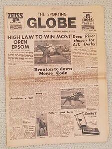 Oct 1st 1952 Sporting Globe. Geelong VFL Premiers, plus heaps of racing info VGC