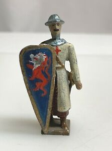 Vintage John Hill Johillco Knights Crusader Lead Toy Figurine - 59572
