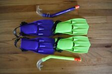 Adjustable Swim Fins and Snorkels by Wave for Kids (Used)