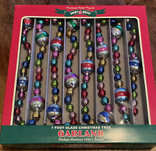 Christopher Radko Shiny Brite Design Christmas Glass Confetti Garland 7 Foot