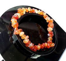 Bracelet Cornaline en Pierre Naturelle Minéral  Lithothérapie Bijoux Pour Femme