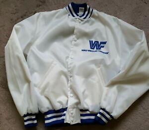WWF 80s Vintage Ultimate Warrior White Jacket Sz L