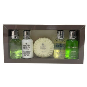 Molton Brown 5 Piece Ladies Travel Gift Set In Box - NEW (4 x 30ml & Soap)