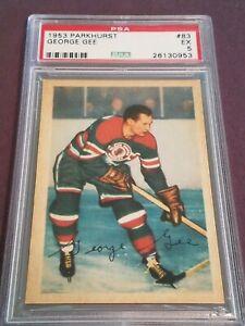 1953 Parkhurst George Gee Chicago Blackhawks PSA 5 #83