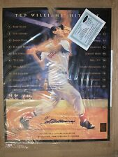 Ted Williams Red Sox signed 16x20 Lithograph Hit List Ballgame
