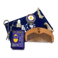 Dr Beard Grooming Set-30ml Beard Oil, Beard Balm, Comb, Scissors & Bag Mens Gift