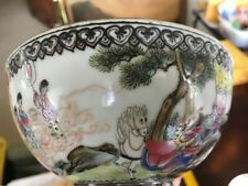 """Chinese """"Quin Long"""" Matching Pair Eggshell Porcelain Bowls"""