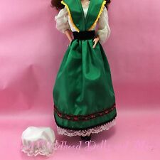 BARBIE DOLL CLOTHES '83 Irish Style Green Dress TNT Costume Outfit Shoes Hat T36